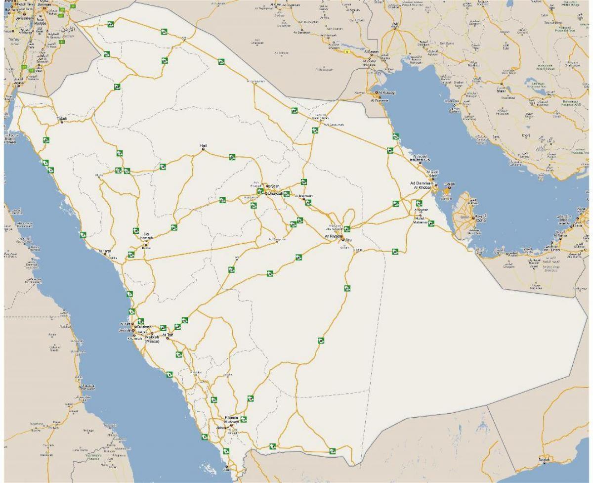 Detaljert Kart Over Saudi Arabia Kart For Detaljert Saudi